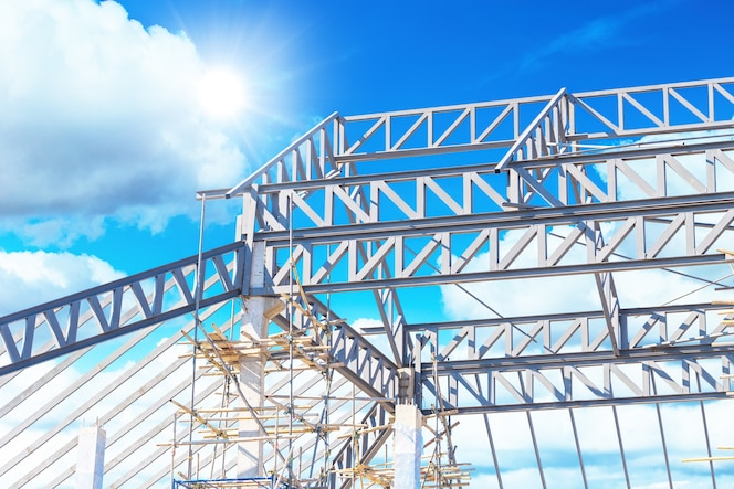 Estructura de construcción de techo de acero de metal