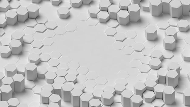 Estructura de fondo geométrico abstracto blanco