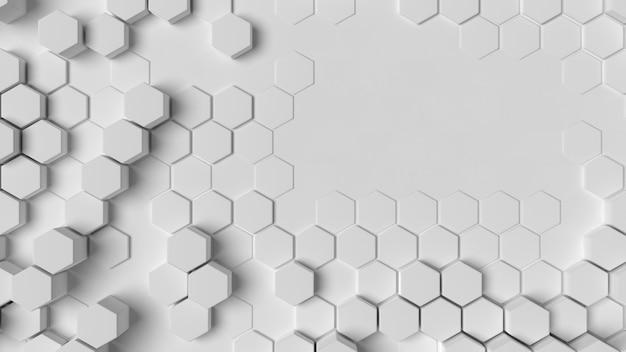 Estructura de fondo geométrico blanco plano lay
