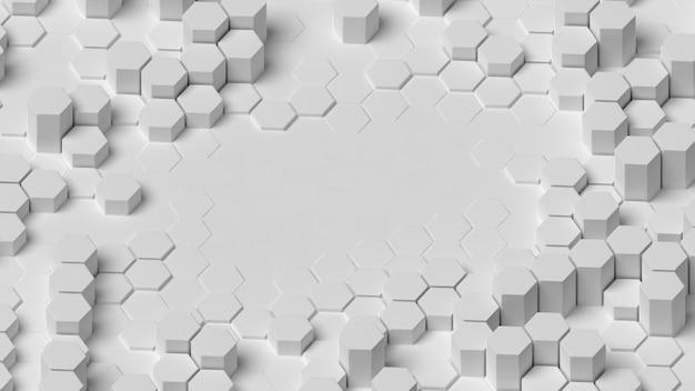 Estructura de fondo geométrico blanco