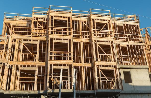 Estructura de la madera en construcción.