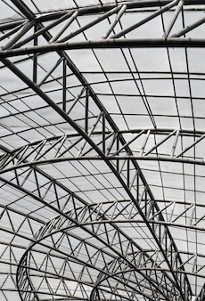 Estructura de techo de metal