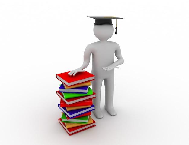 Estudiante con libros de bale
