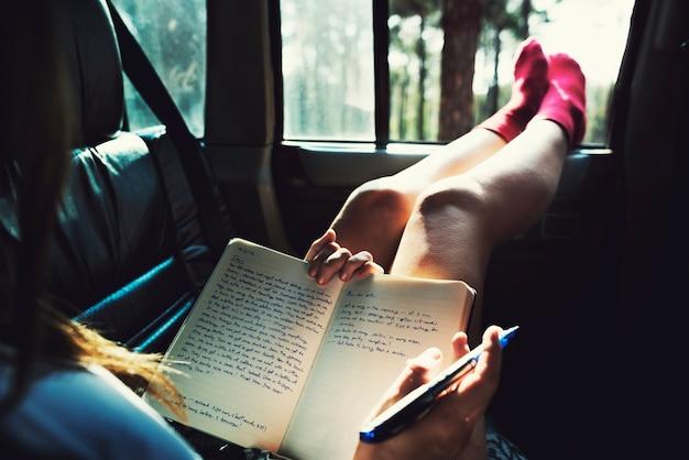 Estudio de lectura camping car hobby concept