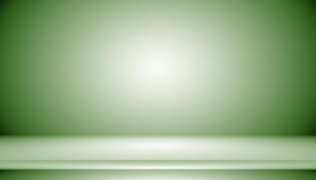 El estudio verde vacío se usa bien como fondo, plantilla de sitio web, marco, informe comercial