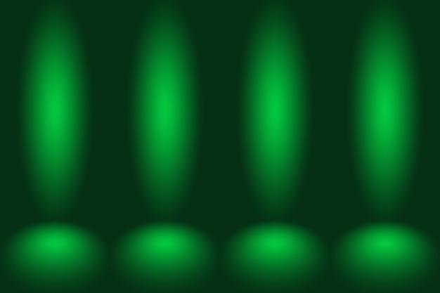 El estudio verde vacío se usa bien como fondo de la plantilla del sitio web.