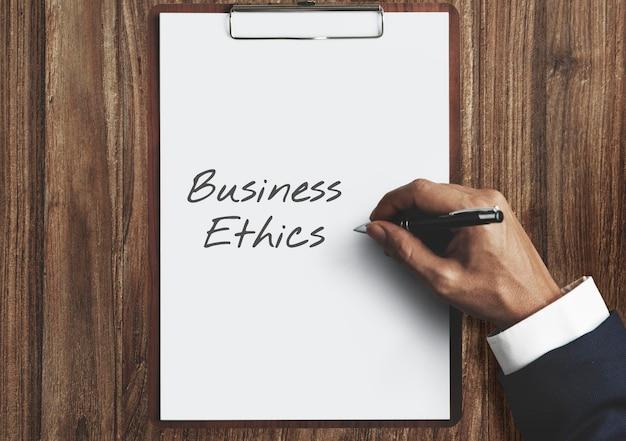La ética empresarial, la integridad moral, el concepto de comercio justo digno de confianza