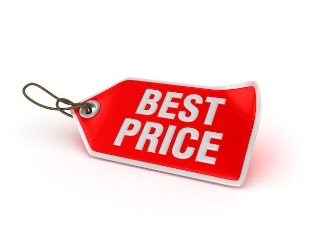 Etiqueta de compras mejor precio
