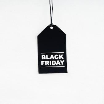 Etiqueta de compras del viernes negro