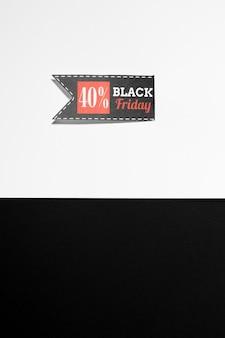 Etiqueta de black friday con oferta de venta