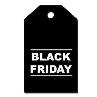 Etiqueta de oferta de black friday