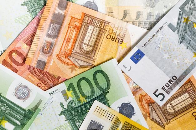 Euro dinero. euro en efectivo. billetes en euros