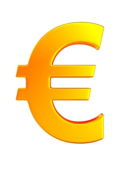 Euro símbolo sobre fondo blanco. ilustración 3d aislada