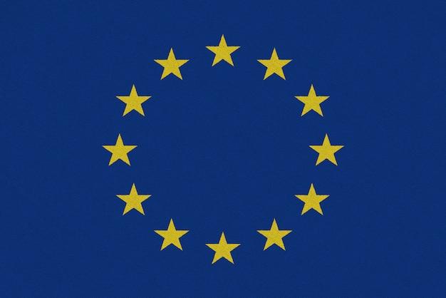 Europa bandera de papel de la ue