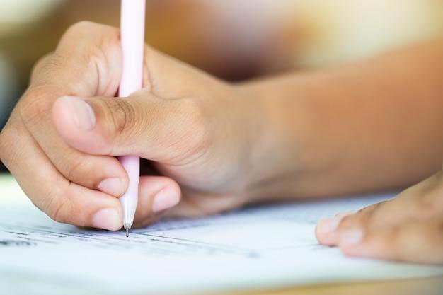 Examen de escritura examen de estudiante