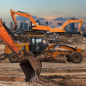 Excavadora y clasificadora