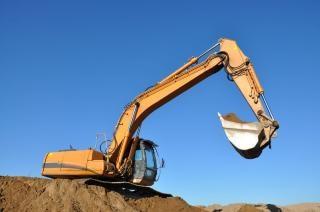 Excavadora de la excavación