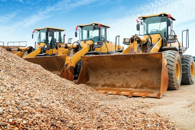 Excavadoras ordenadas