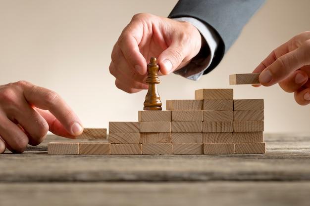 Éxito empresarial y concepto de promoción