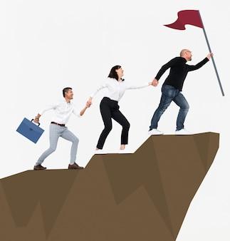 Éxito a través del liderazgo y trabajo en equipo.