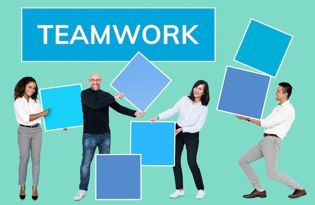 El éxito a través del trabajo en equipo y la formación de equipos.