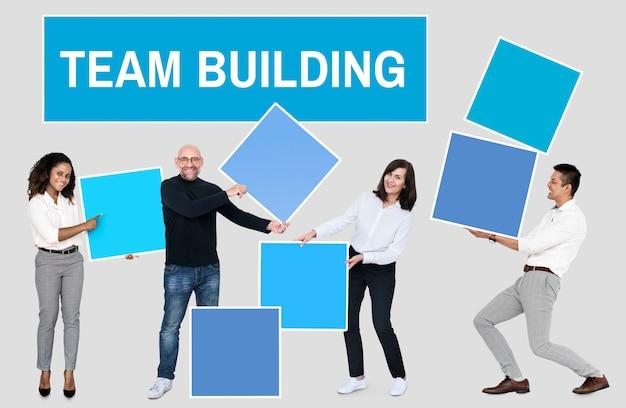éxito a través del trabajo en equipo y la formación de equipos.