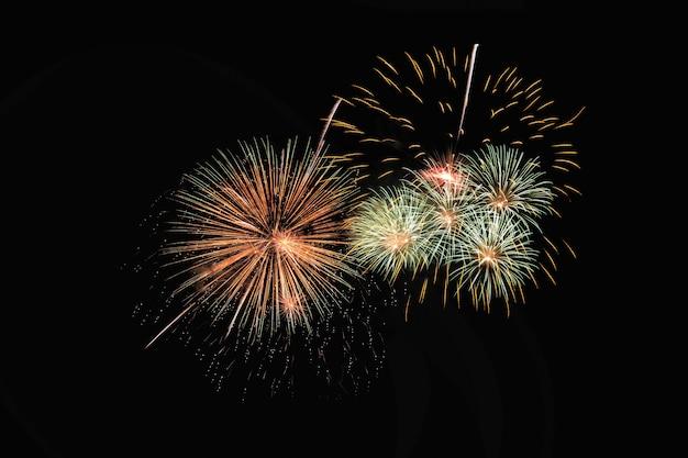 Explosión de fuegos artificiales coloridos festivo abstracto