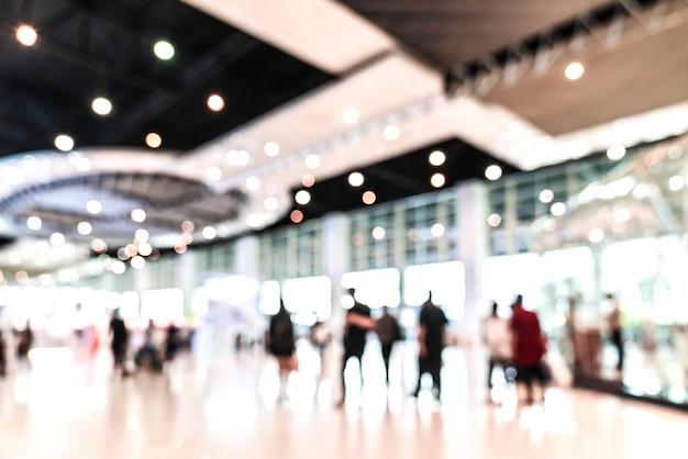 Exposición borrosa extracto desenfocado del evento del tradeshow.