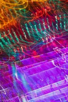 Exposición larga gradiente textura de luces de neón