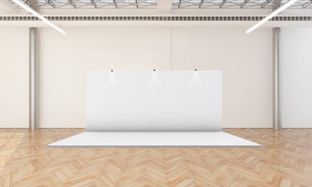 Exposición stand 3d renderizado