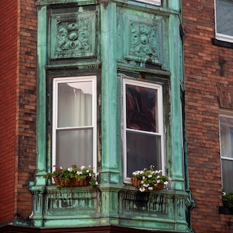 Exterior de un edificio en boston, massachusetts, ee.uu.