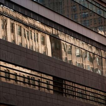 Exterior de edificios en manhattan, nueva york, estados unidos