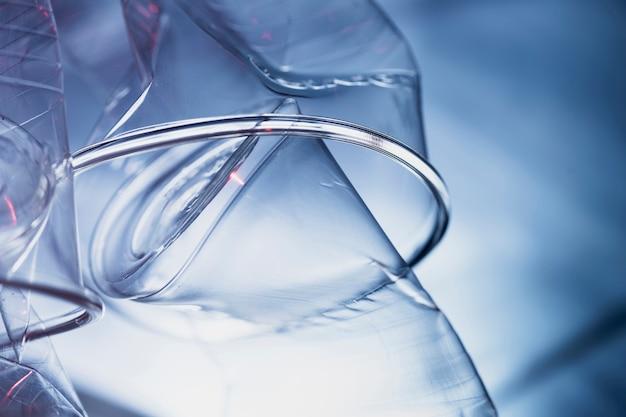 Extreme close up de vasos de plástico
