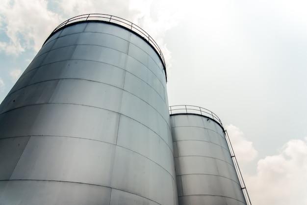 Fábrica de refinería de industria petrolera, tanque de aceite de palma