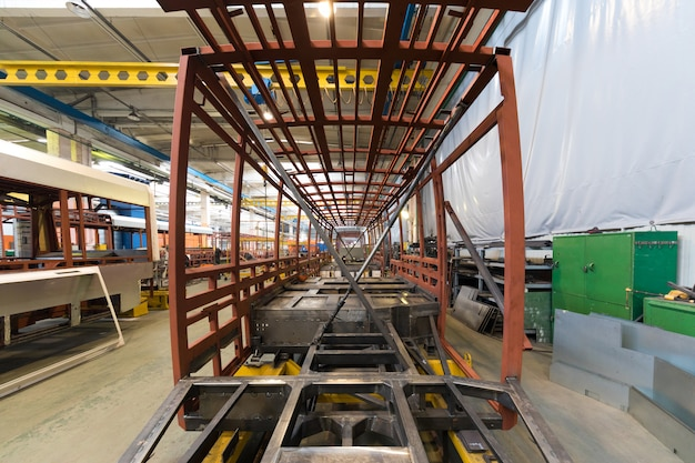 Fabricación de producción de tranvía