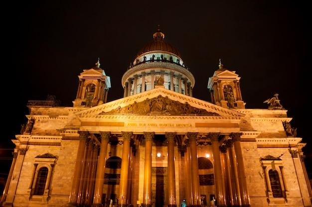 Fachada de la catedral de san isaac, plaza de san isaac, san petersburgo, rusia
