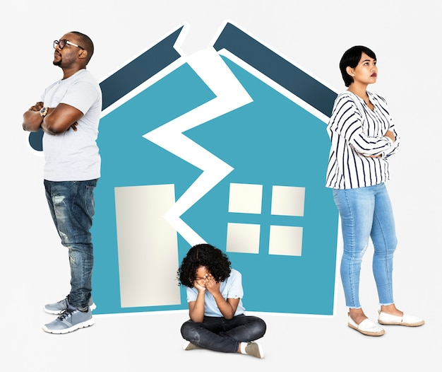 Familia en un hogar roto