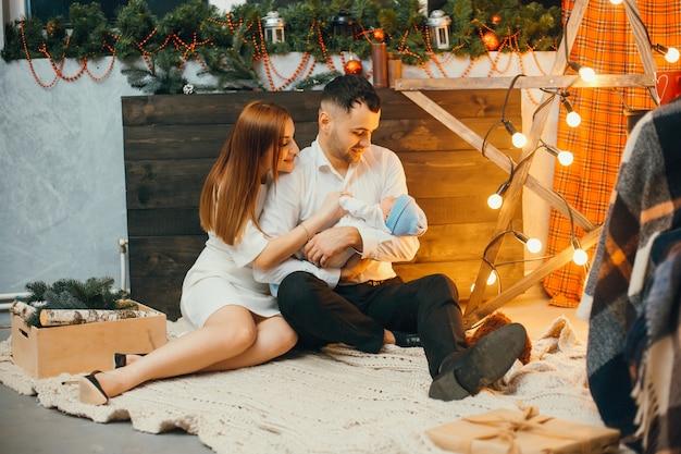 Familia de navidad