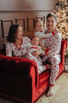 Familia en la navidad
