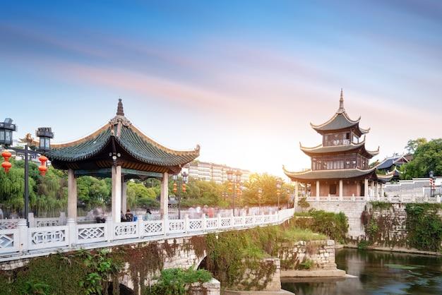 El famoso paisaje arquitectónico antiguo de guiyang.