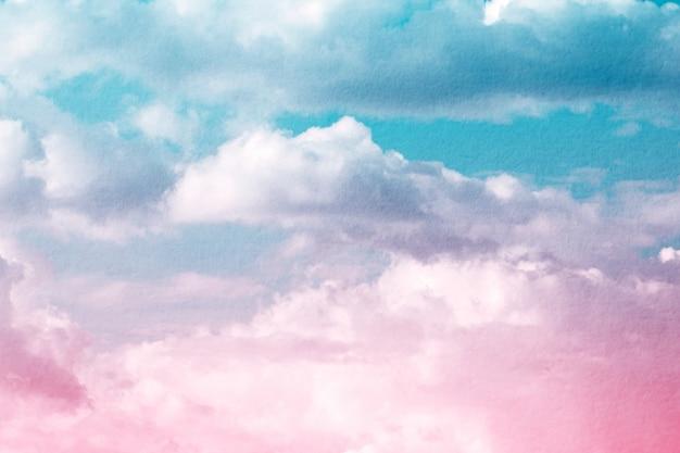 Fantasía y nube dinámica vintage y cielo con textura grunge para fondo resumen