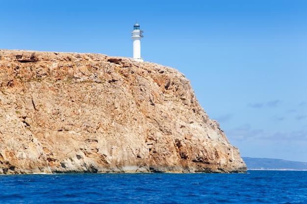 Faro de formentera barbaria vista desde el mar