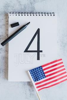 Fecha del día de la independencia americana