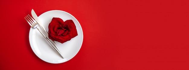 Felicitación cena romántica de san valentín.