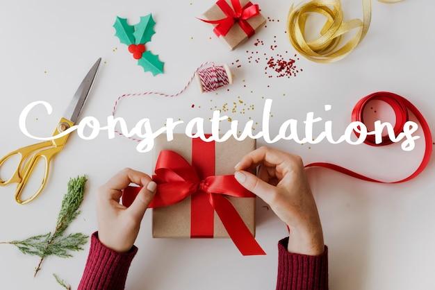 Felicitaciones celebración sorpresa regalo especial