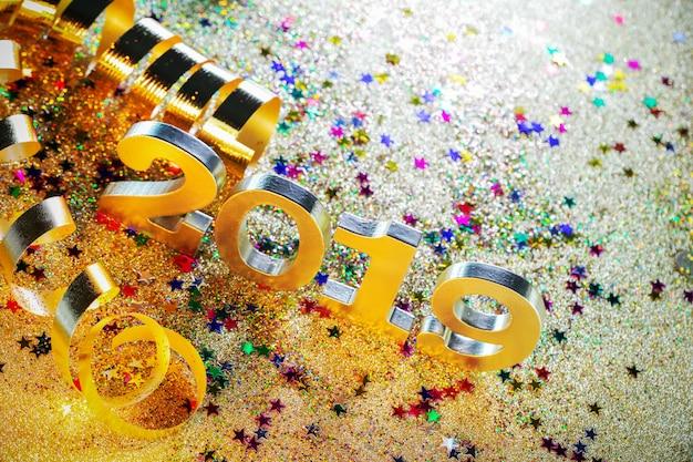 Feliz año nuevo 2019 decoración