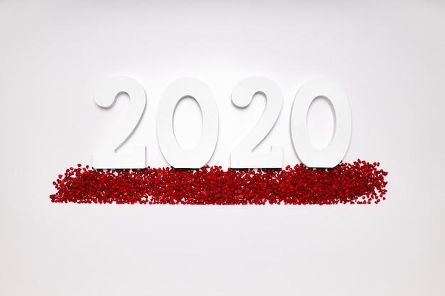 Feliz año nuevo 2020. símbolo del número 2020