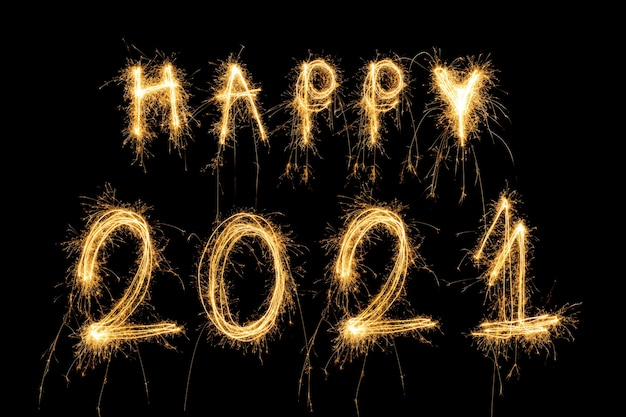 Feliz año nuevo 2021 concepto