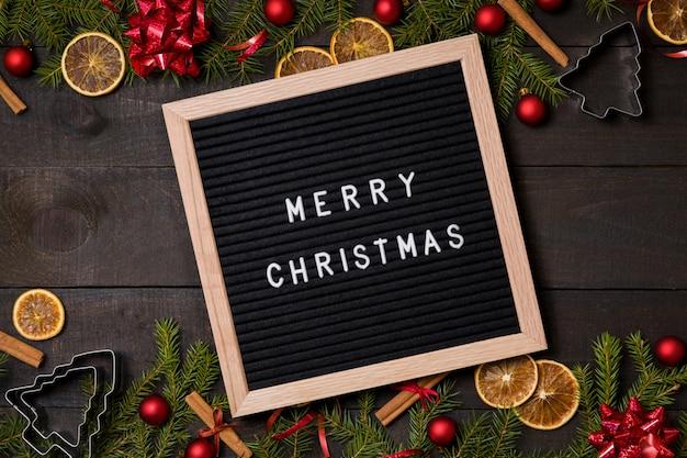 Feliz carta de navidad