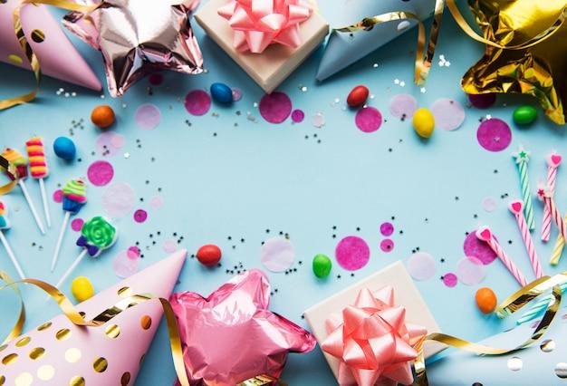 Feliz cumpleaños o fiesta de fondo
